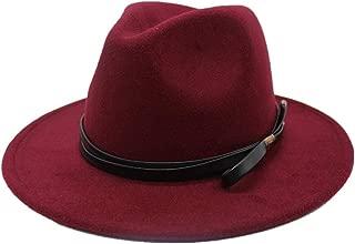 Hat Size 56-58CM Men Women Wool Fedora Hat Wide Brim Autumn Trilby Hat Church Cloche Hat Fascinator Hat Fashion Hat