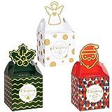 MELLIEX 12 Pezzi Scatola di Caramelle di Natale Confezione Regalo Vuote per Bambini