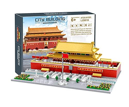 Bloque de 4720 piezas de construcción cuadradas de Tianananmen de Pekín, arquitectura cultural de China, juguete educativo, arquitectura famosa, micro ladrillos, para adultos y niños