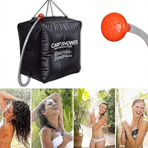 Ashui Campingdusche solar 40 L,Camping Dusche Solardusche - Campdusche Reisedusche kompakt,Camp Shower Outdoordusche mobil,Solar Heizung Wandern Wassersack Shower Reisedusche