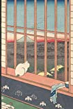 InspirationzStore Notebooks: Japanese Art Internet Password Book Organizer - Cat on Window sill & Mount Fuji Sunset Art Cover = A5 Notebook Logbook website login details keeper Online Accounts manager