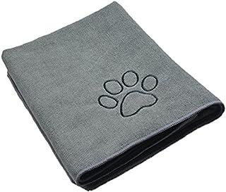 Sinland マイクロ ファイバー 超吸水 ペット用 タオル 犬 猫 体拭き タオル 75cmx127cm グレー