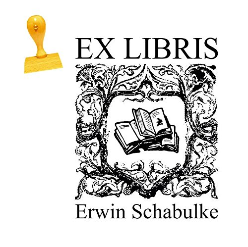 Ex Libris Stempel BÜCHER - mit persönlichem Wunschnamen und Motiv