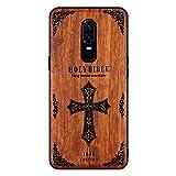 Coque de téléphone en bois Funda Oneplus 5T 6 6T en bois de palissandre TPU antichoc Coque...