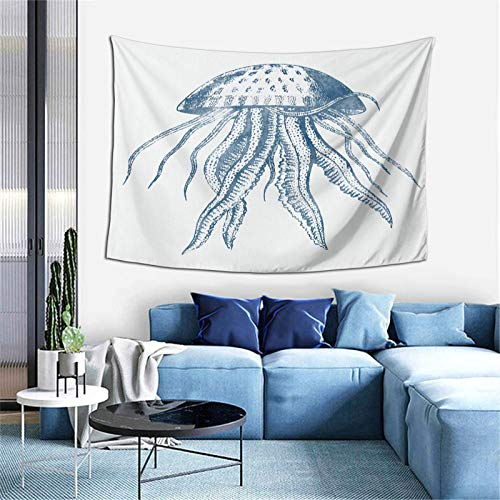 YouGaet Jhashdw Home Decorations, Octopus Ink Drawing Wall-Mounted Large Wallpaper, Used in The Dormitory Bedroom Living Room 60' X 40""