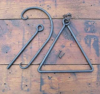 Personalized Dinner Bell - Chuck Wagon Dinner Bell - Cowboy - Triangle Dinner Bell - Hand forged by a Blacksmith.