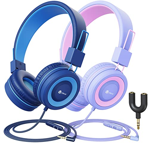 iClever Kids Headphones with Microphone for Online Schooling