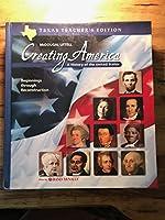 McDougal Littell Creating America Texas: Teacher Edition Grades 6-8 Beginnings through Reconstruction 2003 0618184325 Book Cover
