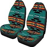 Belidome Fundas de asiento de coche estilo navajo étnico azteca para asientos de vehículo, suave y cómodo, organizador protector para auto, SUV, furgoneta, sedán