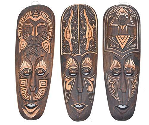 Interlifestyle 3 - Máscara de pared (50 cm), diseño africano
