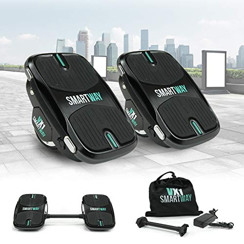 2in1 Hovershoes 500W Elektro Hoverskates Balance Scooter Hoverboard Rollschuhe Hoverschuhe E-Scooter (Schwarz)