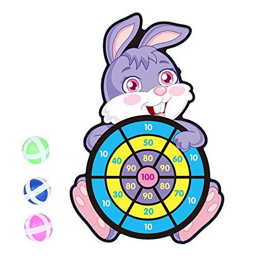 jieGorge Cartoon Dart Brettspiele für Kinder Brettspielset mit 3 klebrigen Bällen und Haken, Spielzeug im Freien, Spielzeug und Hobbys für den Ostertag (C)