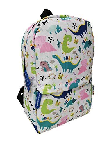 Tiddlers & Nippers Kids Backpack | Kids School Bag/Kids Rucksack | Ideal for School, Nursery, Holidays & Travel. (Dinky Dinos)