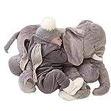 GSDJU Almohada de Elefante para Dormir para bebé, Elefante Suave Gigante, cojín para la Espalda del bebé, Regalo para niños