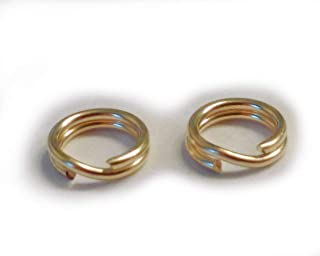 14k gold split rings