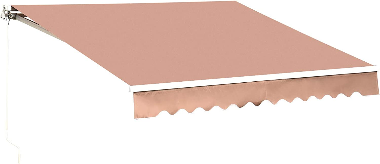 MCombo 12x10 Feet Manual Sales Retractable Window Discount mail order Su Awning Door Patio