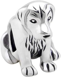 Diseño de perro Labrador pequeño Golden Retriever - auténtica 925 de plata de ley para pulsera de cuentas de