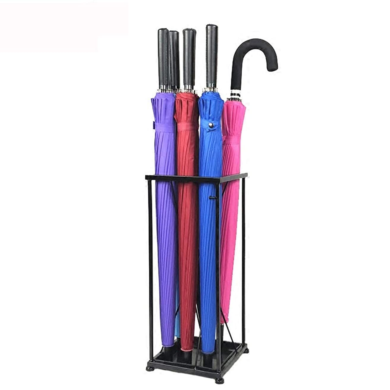 参加者極端な旅行者LIUXIN ブラックメタル傘立てホームホテルのロビー錬鉄製傘立て装飾用傘立て-49 CM×20 CM 傘立て