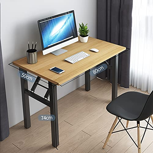 qwert Compact Simple Study Desk For Company Picnic Garden Camping Office,Folding Single-layer Computer Desk,Bamboo grain,80x50x74cm