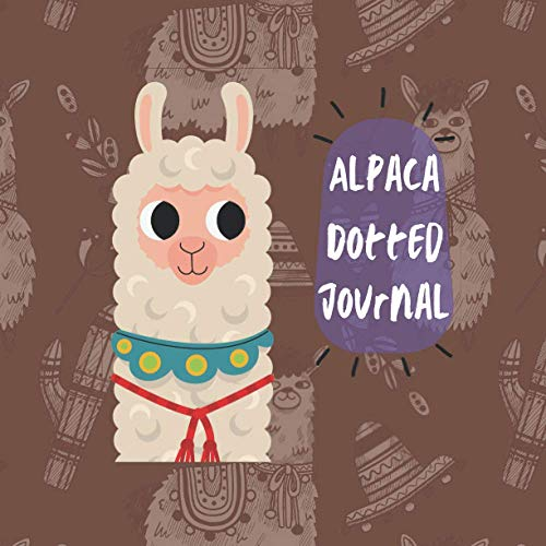 Alpaca Dotted Journal: Dot Grid Notebook, Quad sized 8.5
