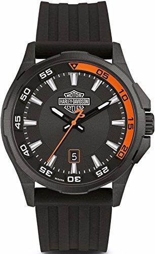 Harley-Davidson Dash Board 78B140 - Reloj de pulsera para hombre (silicona), color negro