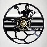 Sports Handball Sports Theme - Horloge Murale Style,Télécommande Led Night Light,Conversion De 15 Couleurs,Horloge Créative,Décoration Intérieure,Offrez Des Amis,Cadeaux De Noël