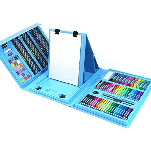 Tokyia 176 de los niños combinación del Cepillo de Aprendizaje de papelería Material de Bellas Artes Pintura Suministros Caja de Regalo Pluma de la Acuarela Conjunto Arte de los niños de Dibujo