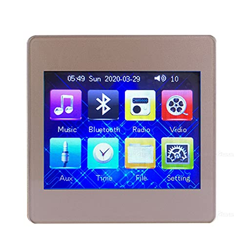 SXYLTNX Mini Amplificador Bluetooth en la Pared, Amplificador Digital de Audio para el hogar Inteligente, Pantalla táctil de música, Sistema de Sonido estéreo de Alta fidelidad de 4 * 25 w con Radio