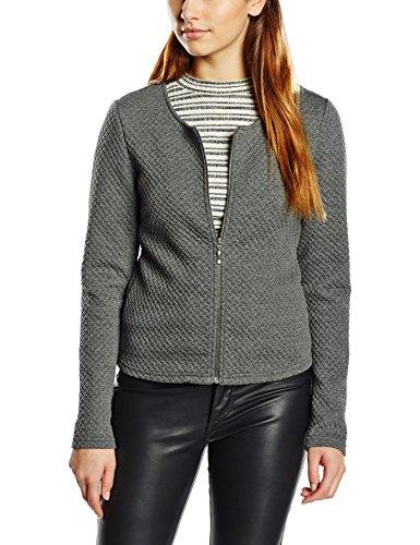 Vila Damen Vinaja New Short Jacket Blazer, Grau (Medium Grey Melange), 38 (Herstellergröße:M)