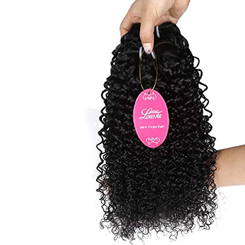 WIGM Real Human Hair Bundles trame br¨¦silienne vierge noire profonde cheveux boucl¨¦s ¿É ÌÌ extension de cheveux @ 26inch Naturelle Br¨¦silien Pr¨¦ Plum¨¦ Sans colle Cheveux Humain pour F