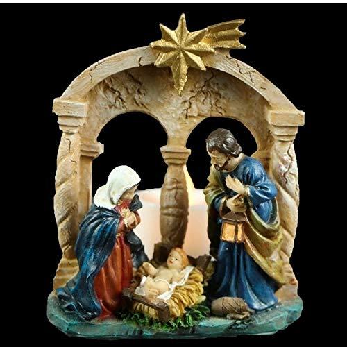 FBright Figura de Navidad Nacimiento con Luces Leds, Multicolor, Grande