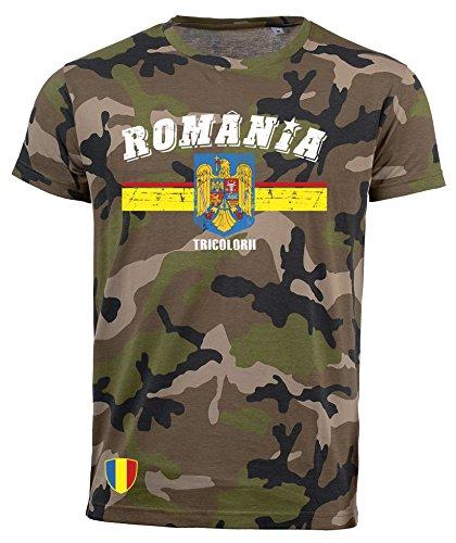 aprom T-Shirt Rumänien Romania Camouflage Army NC D03 (M)