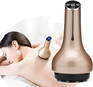 Electric Gua Sha Massage, Home Body Suction Machine Wireless Cupping Gravitation Massage Dredge Meridian Brush,Metallic