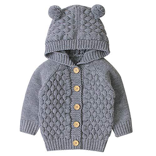 mtxtechnology bebé recién Nacido otoño Invierno de Punto de Color sólido Abrigo...