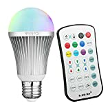 Coidak E26 RGBW LED Color Changing Light Bulb with 2.4GHz RF Wireless Remote Controll (Not IR),…