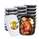 Switory 20pc 950ml Meal Prep Containers with Lids 1 Compartment BPA Free Plastic Food Storage Containers Bento...