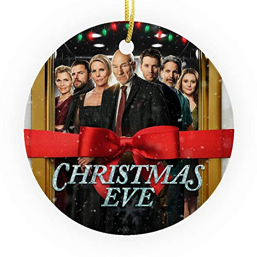 Bynight Tree Ornament New Yorkers trapped Elevators 2015 Comedy Film Movie Lovers Poster Gift Christmas Ornaments for Home Decoration Kit Outdoor/Indoor Plastic Round 1pc/Pack