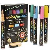 Bolígrafos de purpurina de acrílico para niños/adultos, marcadores de purpurina extrafinos de 1 mm