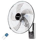 Wandventilator Oszillation Wand-Ventilator 50cm Mit 90 ° Oszillierend 3 Geschwindigkeit 3 Windmodus Fernbedienung Und Timer Leiser / 60w