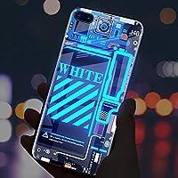 """IPhone12携帯電話ケースコールが光る IPhone12mini ケース 5.4"""" ケース 強化ガラスケース IPhone12ProMax APP通知 メール 着信 カラフル光り IPhone11 携帯電話ケースコール発光全面保護指紋防止せんすべてのIPhoneシリーズに適しています,青-iphone12proMAX"""
