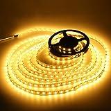高輝度LEDテープライト SMD 2835 3528 5M 300連 強力粘着両面テープ 正面発光防水仕様IP65 切断可能 (電球色)の写真