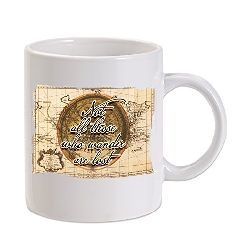 Not All Those Who Wander, Are Lost, LOTR 11 oz. Novelty Coffee Mug