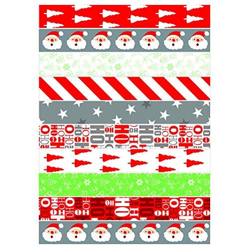 TUPARKA 300 Pcs Festive Paper Chains Merry Christmas Craft Paper Chains for Christmas and Festive Party Decorations