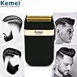 KeMei Waterproof Reciprocating Razor Shaver Cordless Electric Rechargeable Shavers Precision Beard Sideburn Trimmer Razors Twin Blade Washable Grooming Razor,Cordless and USB Rechargeable