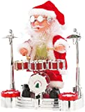 infactory Santa Claus: Singender Schlagzeuger-Weihnachtsmann mit LED-Lichtershow (Trommelnder Weihnachtsmann)