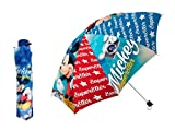 Paraguas plegable infantil de Mickey Mouse con funda protectora, 55 cm