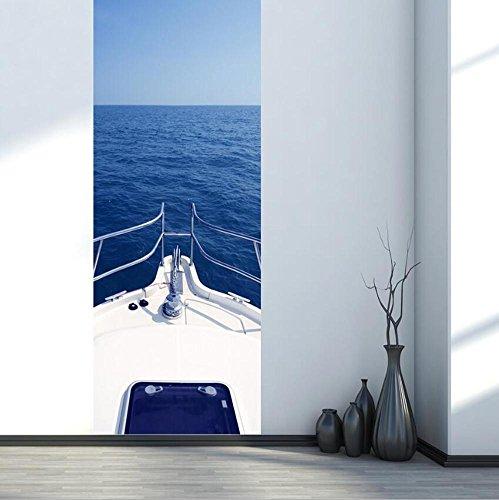 Autocollants de porte Stickers muraux DIY 3D étanche à l'eau auto-adhésive Remis à neuf Eco-friendly PVC Papier peint Mural Art Home Décorations amovibles, faciles à appliquer, 1 ensemble (2 pc)
