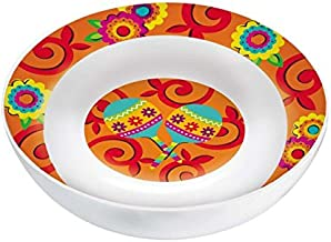 amscan Multicolored Round Melamine Party