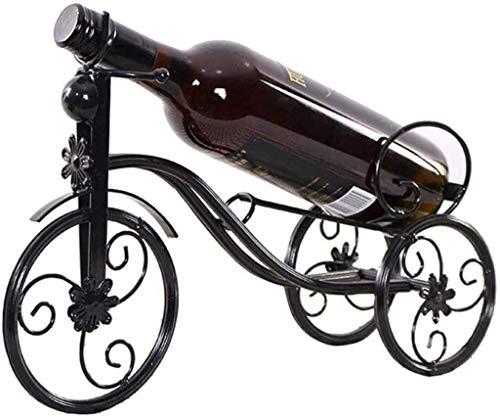 JYDQM Detalles de Exhibición de Vino, Mesa Minimalista Moderna Decoración Del Estante de Vino para el Hogar Botellas de Vino para el Hogar Tolders Fáciles de Instalar,Negro