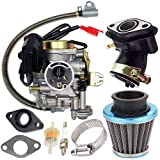 139QMB Carburetor for GY6 50CC 49CC 4 Stroke Scooter Taotao Engine 18mm carb+ Intake Manifold Air Filter - 50cc Carb,50 cc Scooter Carburetor,49cc Moped Parts 50CC by TOPEMAI